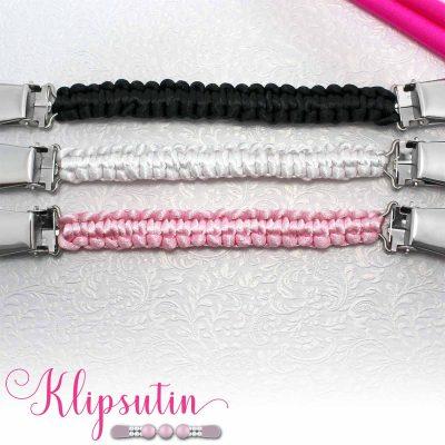 Napittoman neuletakin ja villatakin pidike nimeltä Klipsutin Olga. Kuvassa näkyy tuotteen kaikki vaihtoehdot.